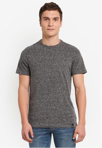 River Island grey FABRIC INTEREST TEE RI009AA0SIV4MY_1