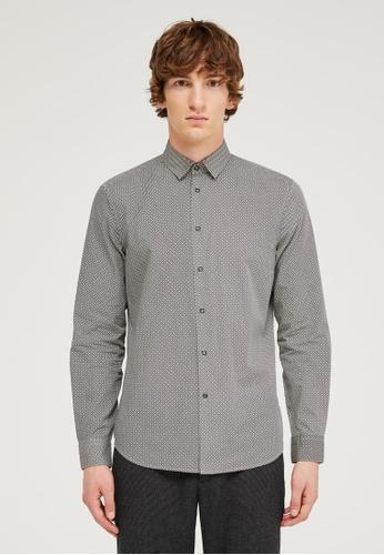 Sisley multi Printed Shirt 95858AA63E363BGS_1