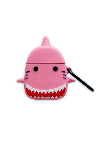 Kings Collection pink Lovely Shark AirPods Case (KCAC2084) 32FA6ACB2517DAGS_1