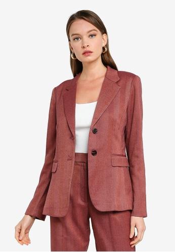 FORCAST pink Coraline Double Button Blazer A7409AAC74BA92GS_1