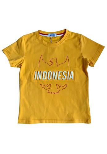 Moejoe yellow MOEJOE Indonesia Printed T-Shirt - Yellow D40F8KA69086F7GS_1