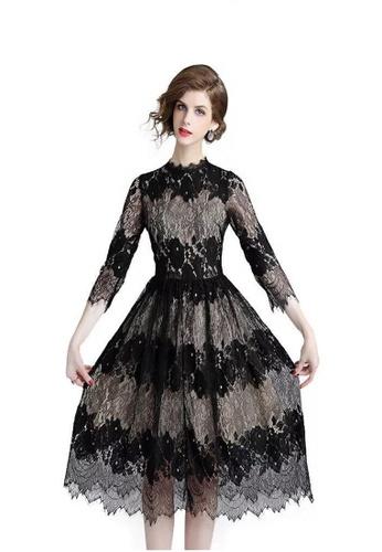 ecb678713 Crystal Korea Fashion black Spring New Slim Ladies Elegant Lace A-line Skirt  6DF20AAC711A9BGS_1