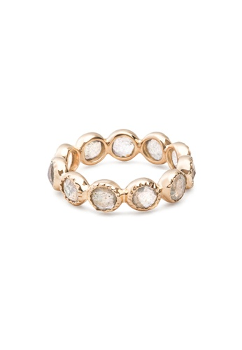 Jemocracy grey and gold JEMOCRACY - Limitless - eternity ring in gold-plated silver with natural gems A7C4BAC10FD85DGS_1