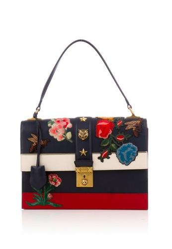 Gucci multi Preloved Multi Embroidered Riche Stripe Bag 90FD0ACB042DEBGS_1