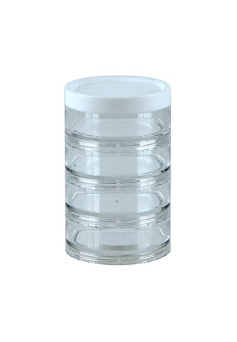 MakeRoom n/a Portable Small Item Storage Tube With 4 Compartments EA0B7HLE1C714AGS_1