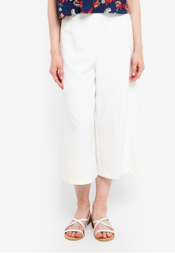 Something Borrowed white Lace Trim Culottes 79C80AA435F847GS_1