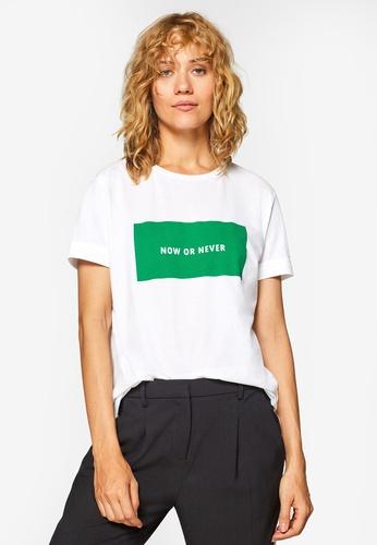 ESPRIT white Short Sleeve T-Shirt 2D74EAA5C58B31GS_1