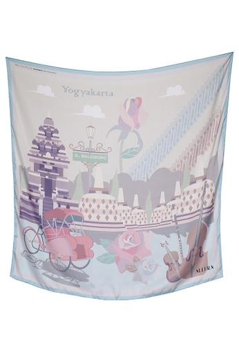 Modest-Runway Inc. pink and multi ALLURA My Favorite City Yogyakarta COTTON Voile Scarf/Hijab 052FCAAE583B06GS_1