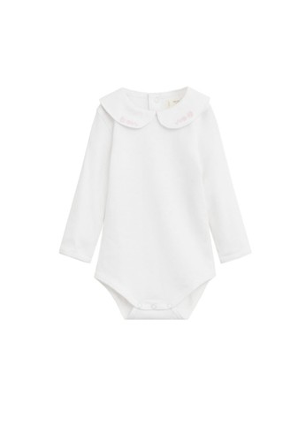 MANGO BABY brown Embroidered Detail Organic Cotton One Piece 2701FKA555924DGS_1