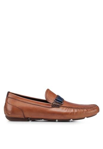 ALDO brown Cradien Mocc Loafers 62E8ESH105B1DCGS_1