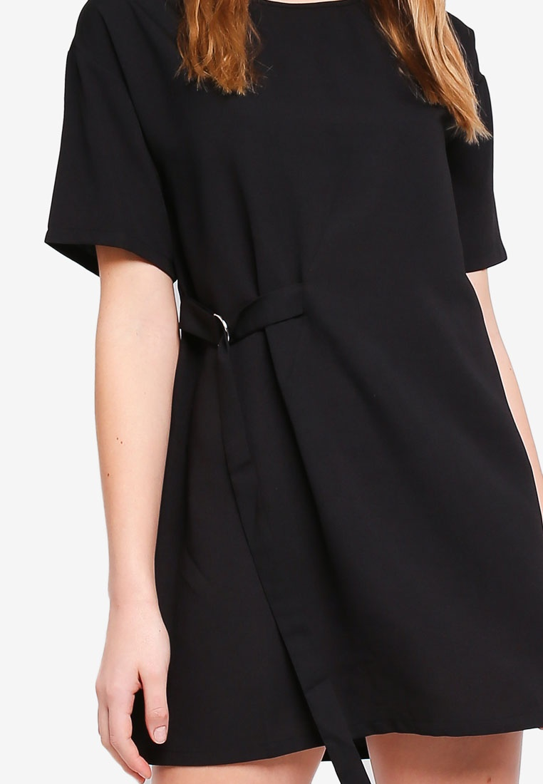 Tie Front D Basic BASICS ZALORA Ring Dress Black nx1RWPFRgq