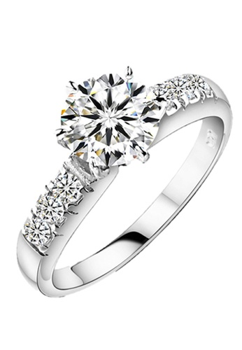 Elfi silver Elfi 925 Genuine Silver 0.5ct Engagement Ring P40. The Luxury Within EL186AC39DCMMY_1