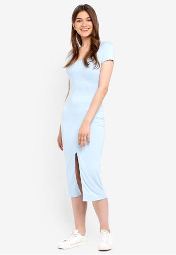 Something Borrowed blue Bodycon Midi Dress With Slit 8C8A9AAE42D05BGS_1