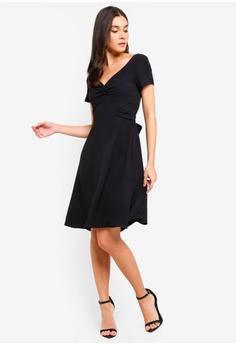 b164bf02f092a ZALORA Sweet Heart Neck Fit And Flare Dress RM 105.00. Sizes XS S M L XL