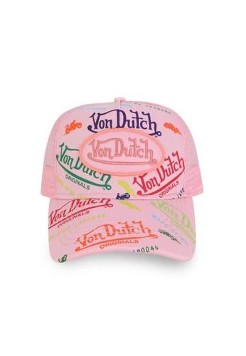 Von Dutch pink Von Dutch Pink All Over Print Trucker Cap 4C330ACE4EB12EGS_1
