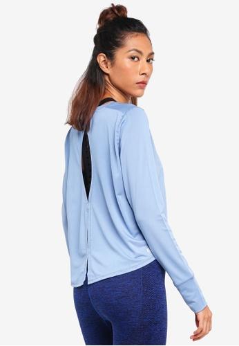 Cotton On Body blue Asana Long Sleeve Top 48EC0AAAA51B25GS_1