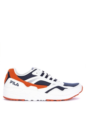 Fila white Capable Running Shoes 43DDBSHB70A24BGS_1