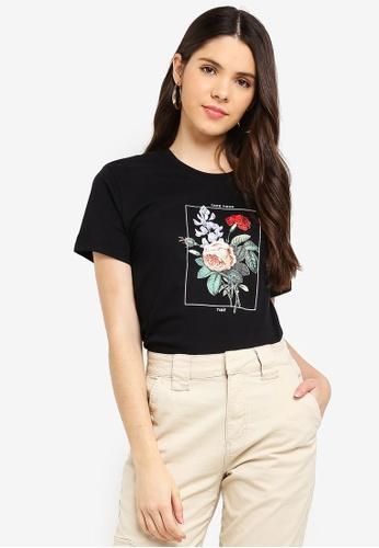 Cotton On black Tbar Fox Graphic T-Shirt 07438AA449F98FGS_1
