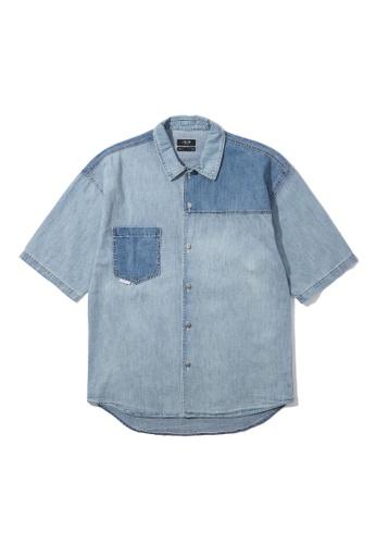 Fivecm blue Panelled denim shirt 6470FAA1D16271GS_1