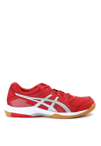 Asics red GEL-Rocket 8 Volleyball Shoes AS445SH0IOCQPH_1