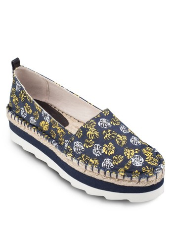 熱帶印zalora 泳衣花厚底懶人鞋, 女鞋, 懶人鞋