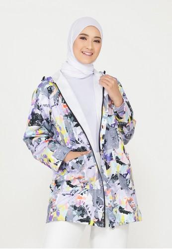 Mimamim grey Claudia All Over Print Jacket CFF62AA86C28B1GS_1