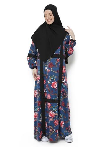 Yanna Azwar navy Haniah Dress Set Hijab-Navy (LD 112 cm) 125DDAACA9403AGS_1