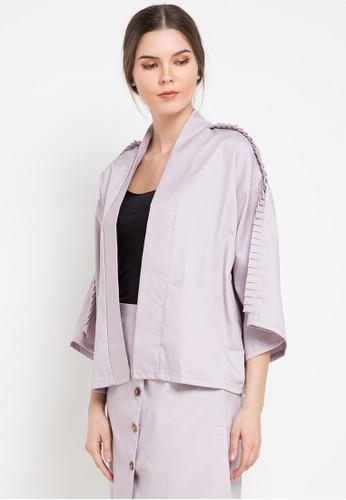 Noche purple Paola Blazer 7D4C9AAED19E88GS_1