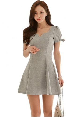 Sunnydaysweety grey 2017 S/S Simple Grey color One-Piece Dress UA050531 SU219AA77DYGSG_1