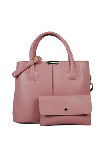 Kimbel International pink BCA20218 Handbag with Sling 524BFAC01110EDGS_1