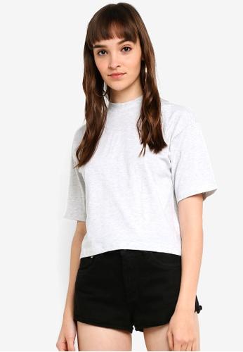 95423cbb8c1f Buy Factorie High Neck Boxy Crop T-Shirt Online | ZALORA Malaysia