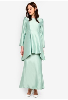 bff603ce5b378f Gene Martino Peplum Kurung S  46.90. Available in several sizes. Gene  Martino blue Plus Size Ruffle Top EF689AA7BD3D5AGS 1