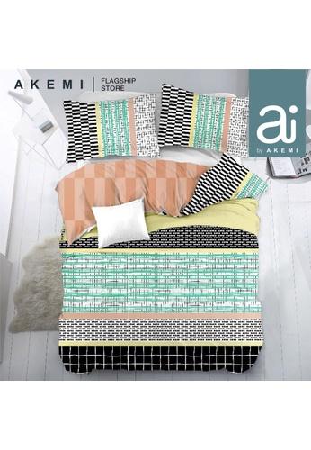 AKEMI multi Ai by Akemi Lovesome - Mariusz Fitted Sheet Set. F9EB5HL2155F1BGS_1