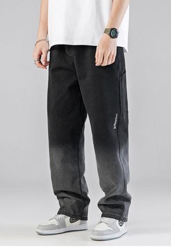 Twenty Eight Shoes black VANSA Wide-leg Gradient Denim Casual Pants VCM-P2008 4FEBBAA5A9DC9AGS_1