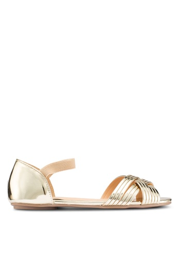 Carlton London 金色 金屬感平底鞋 AEFF1SH67D1AFDGS_1