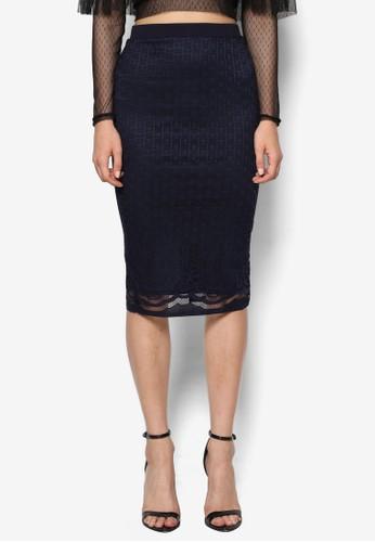 Leelee 蕾絲及膝鉛筆裙, 服esprit 台中飾, 裙子
