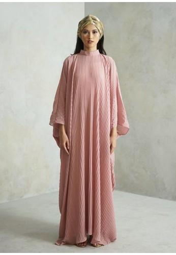ROUJAK pink Antoinette Pleated Fashion Woman Kaftan - Rosé 39FD3AAA791976GS_1