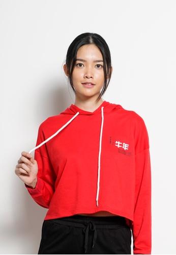 Fave red Women Long Sleeve Sweatshirt [YEAR OF OX] 3E088AAE948347GS_1
