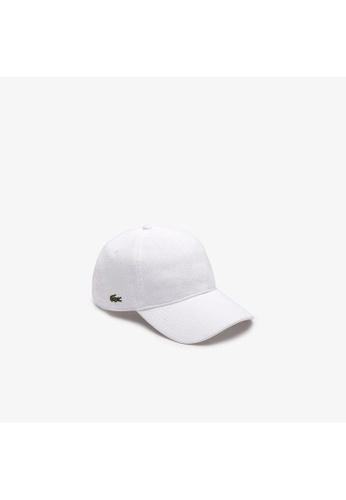 Lacoste white Men's Piqué Cap DD68FAC285800AGS_1