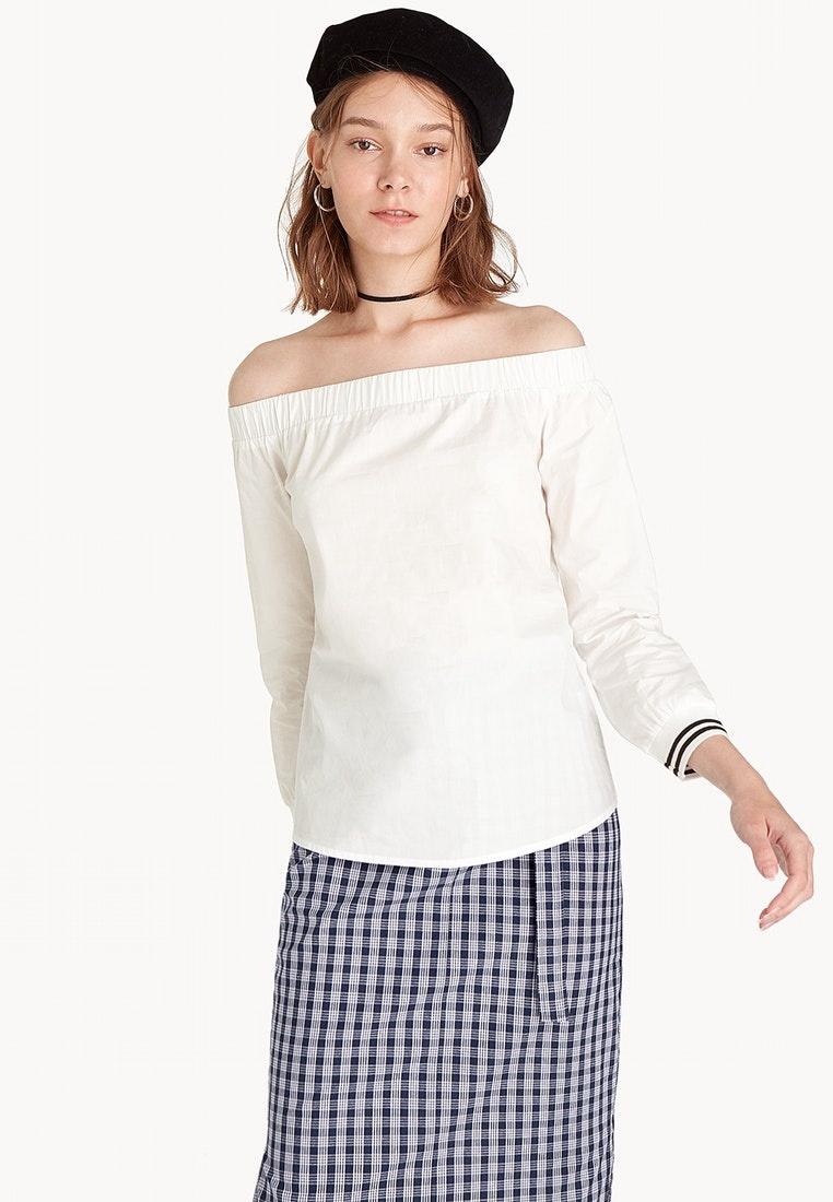 9276b5750ade17 Off Top Shoulder White Pomelo Cuff White Striped wPqCqT6-klausecares.com