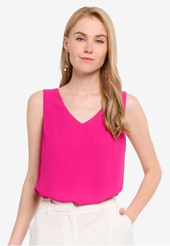 FORCAST pink Alanna Sleeveless Top D7539AAA5E82E6GS_1