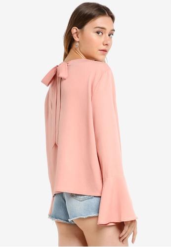Something Borrowed pink Tie Back Short Top C2249AAAC78625GS_1