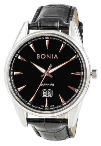 BONIA black Bonia B10318-1332 - Jam Tangan Pria - Black Silver CBE14AC335B933GS_1