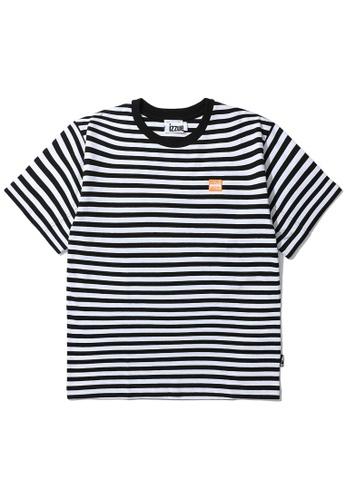 izzue white Reversed stripe tee BFA67AABCD62C0GS_1