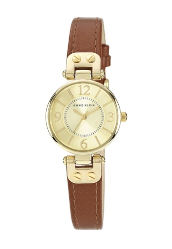 Anne Klein gold and brown Anne Klein Ladies - Leather Strap Watch - 10-9442CHHY AN844AC0RGRUMY_1