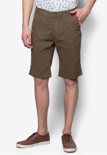 基本款斜布短褲, esprit門市服飾, 短褲