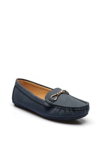 7soles navy Verity Ladies Loafers Shoes 34082SH55555BCGS_1