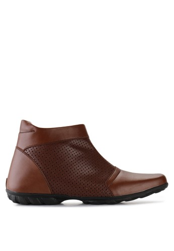 NIEL brown Brave Synthetic Leather NI227SH99ZMEID_1
