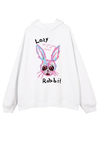 HAPPY FRIDAYS HAPPY FRIDAYS Painted Rabbit Hoodie OV9827 7C9BEAA746F1D6GS_1