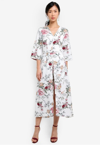 ZALORA white Double Layer Maxi Romper 932B9AA2755775GS_1